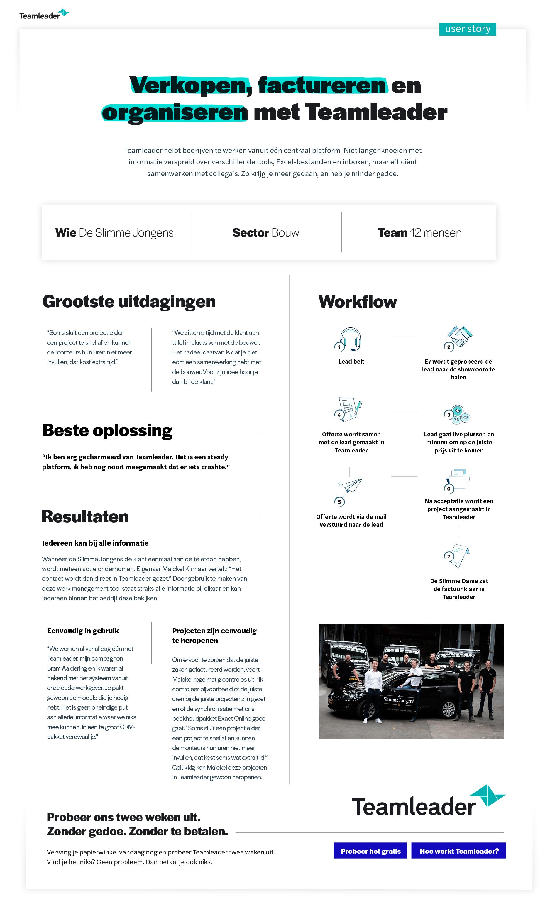 Usercase De Slimme Jongens