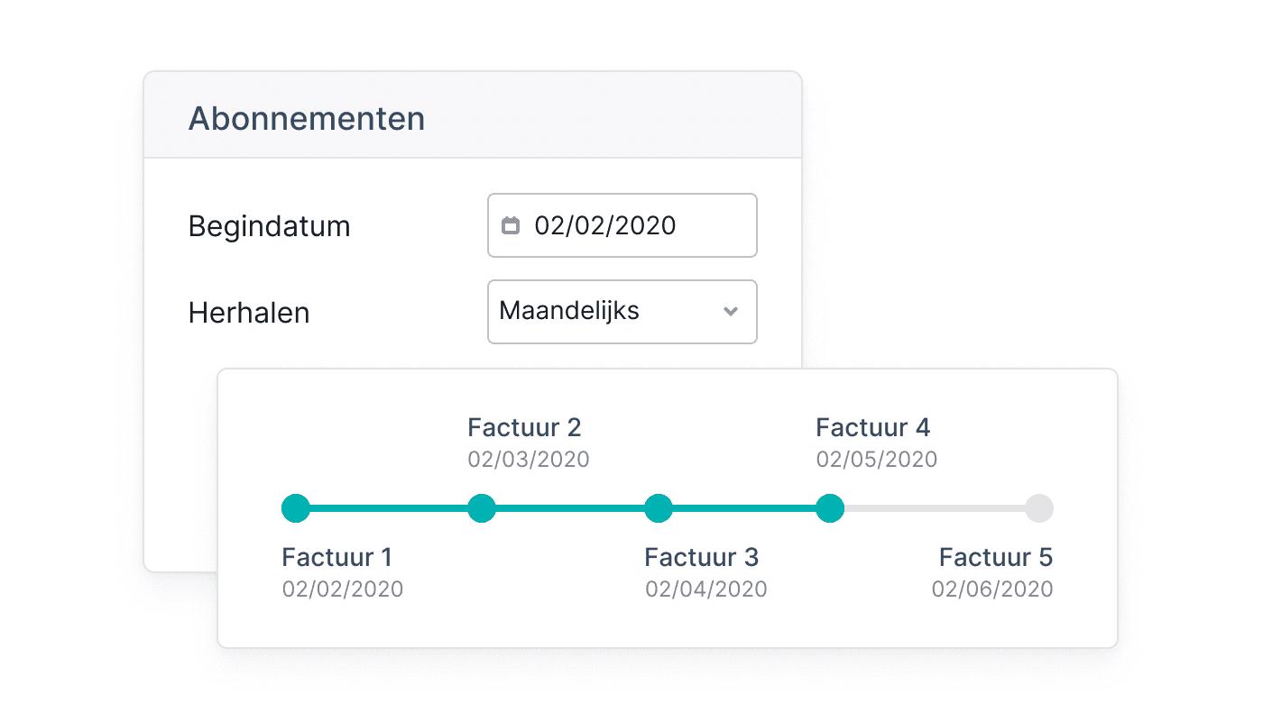BE NL Recurrente facturen