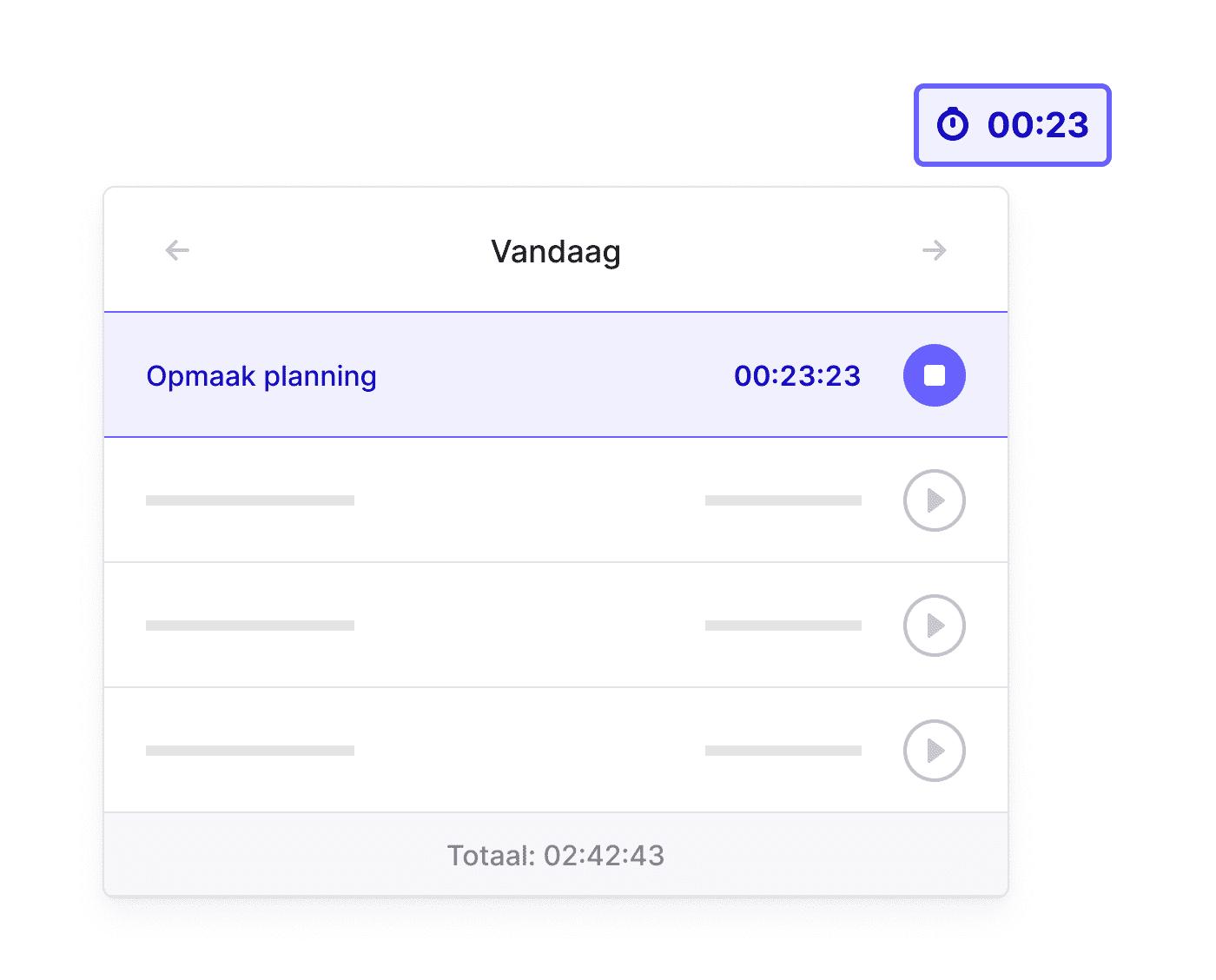 BE NL Tijd registreren