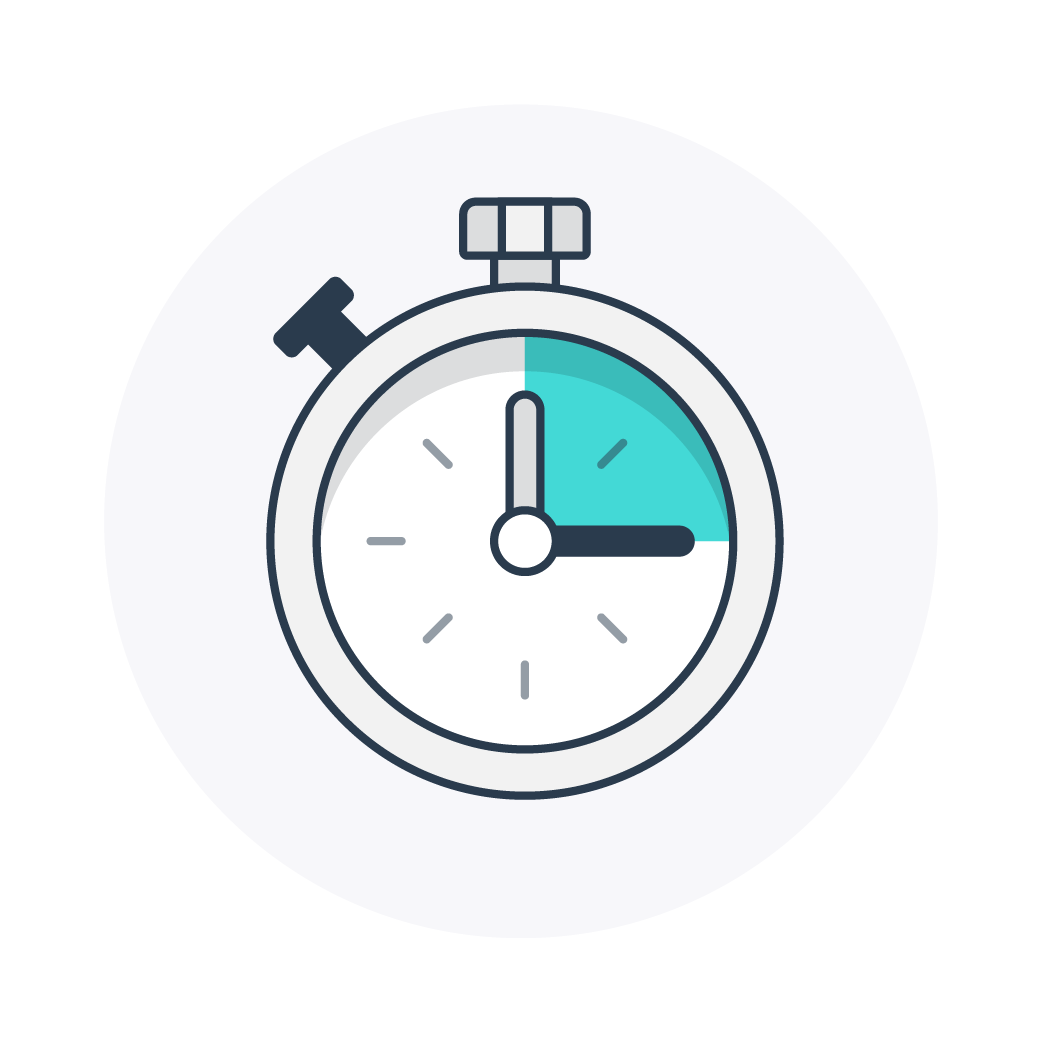 Icons landingpages Worked hours