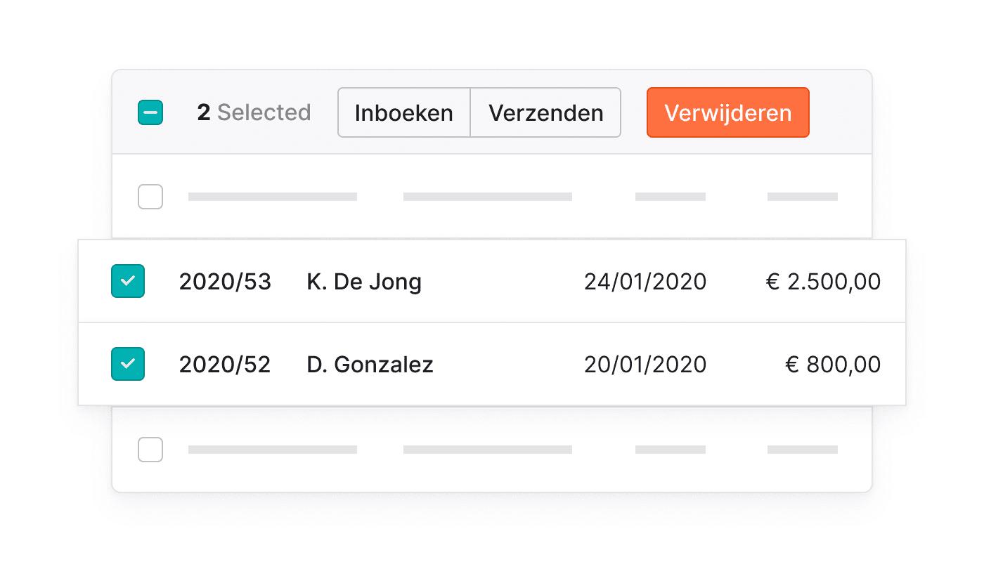 BE NL Bulk acties