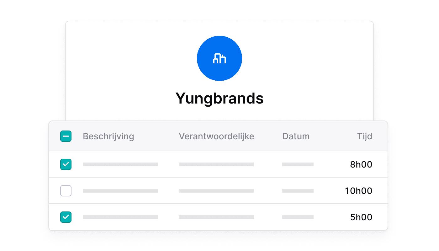 BE NL Factuureerbare tijd per klant