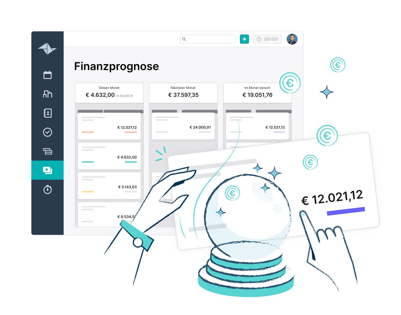 HQ Feature Page Financial Forecast Website Feature Block 700x550px DE 1