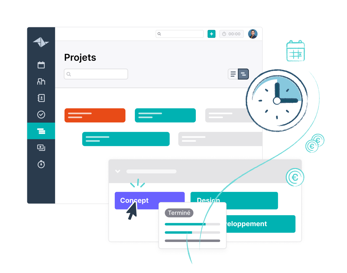 HQ Feature Page Projects Timeline Website Feature Block 700x550px FR