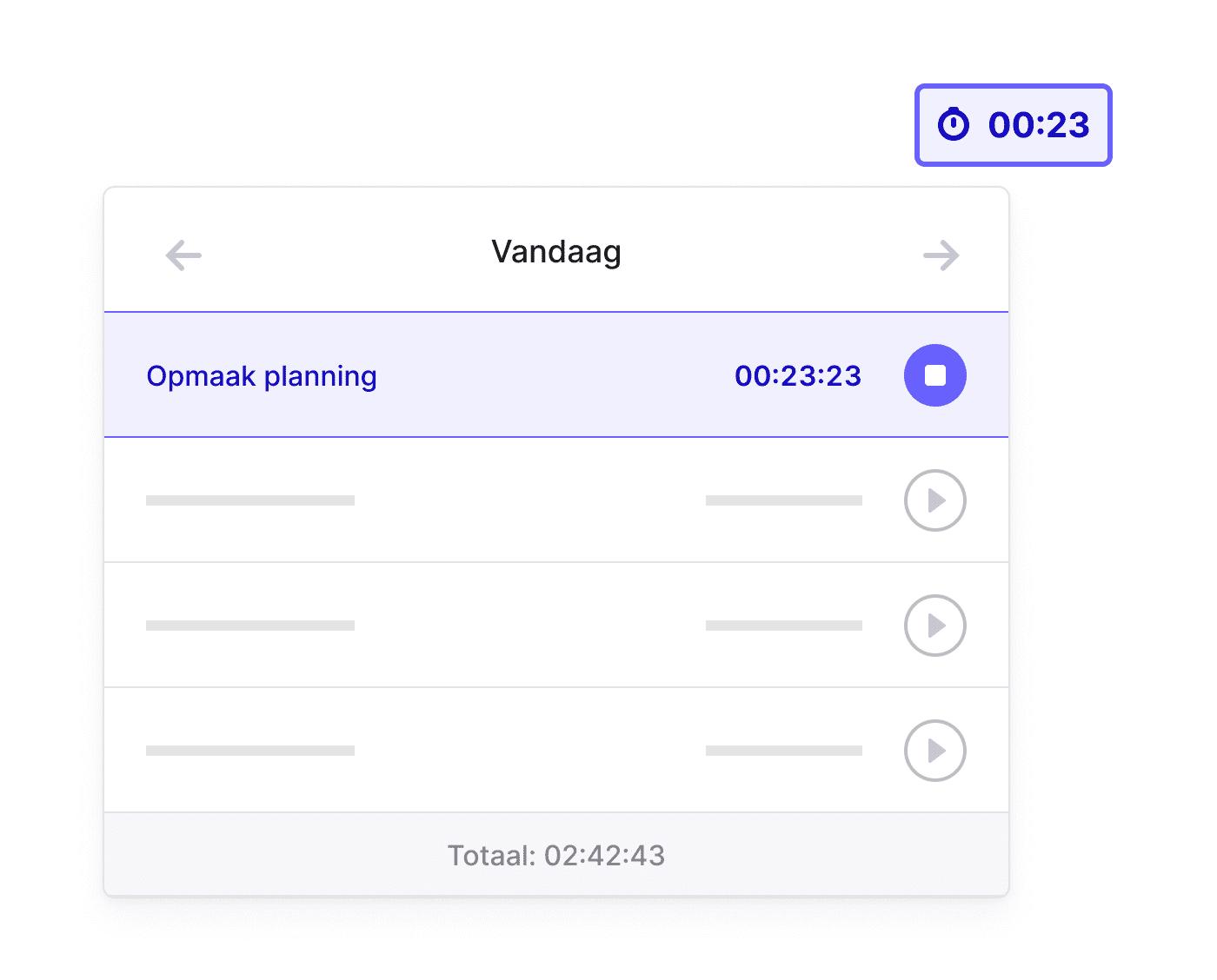 NL NL Tijd registreren