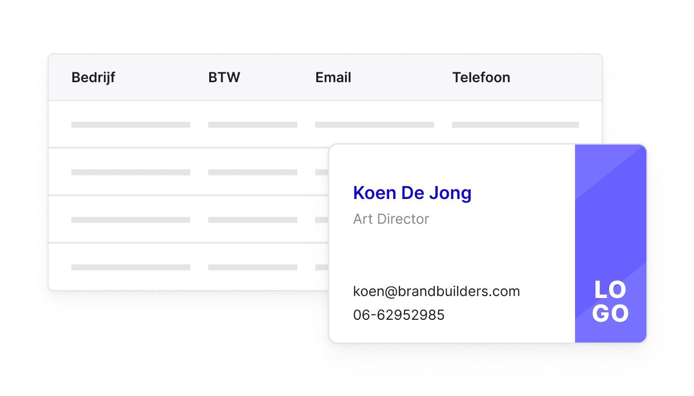 BE NL Eén plaats voor al je contacten