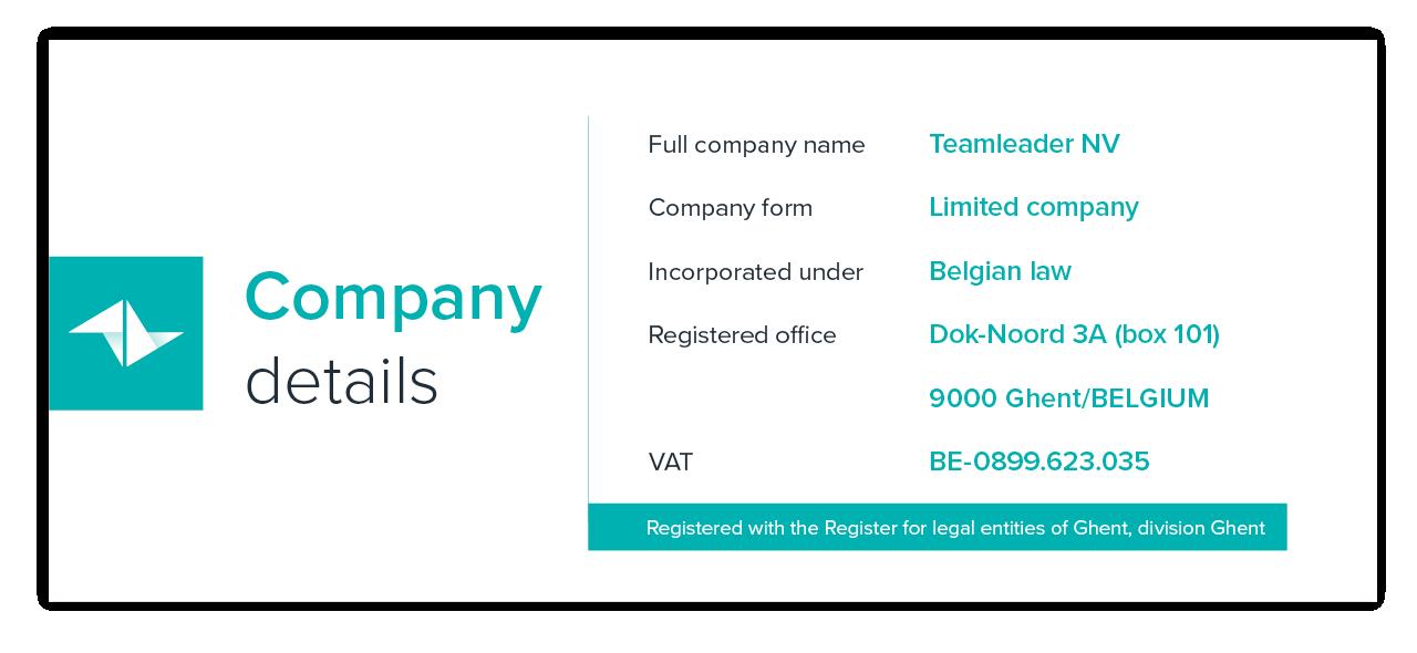 Company details Teamleader NV