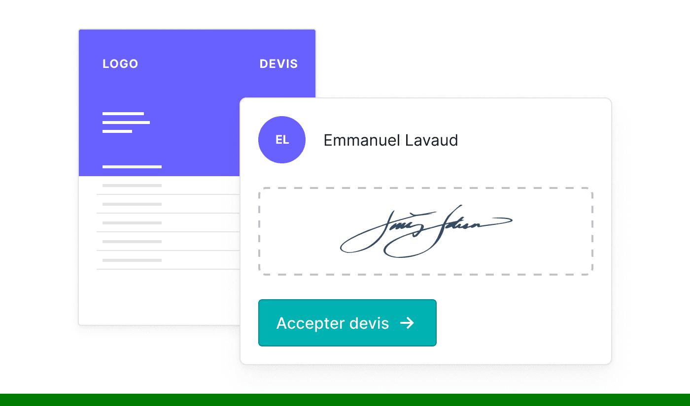 BE FR Offertes online laten ondertekenen