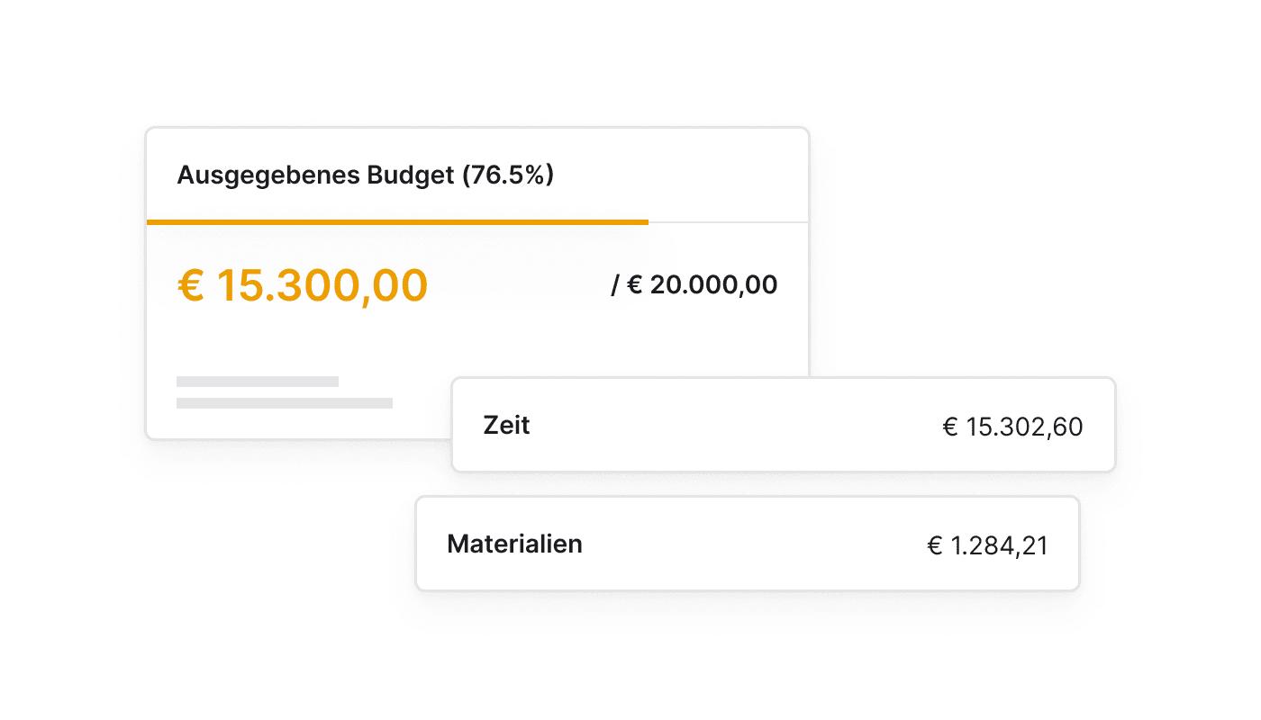 DE Blijf binnen budget