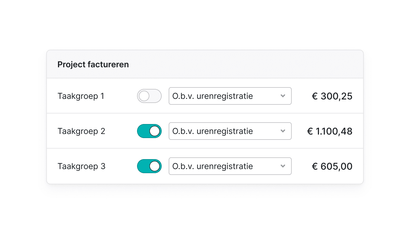 NL NL Facturen vanuit je project