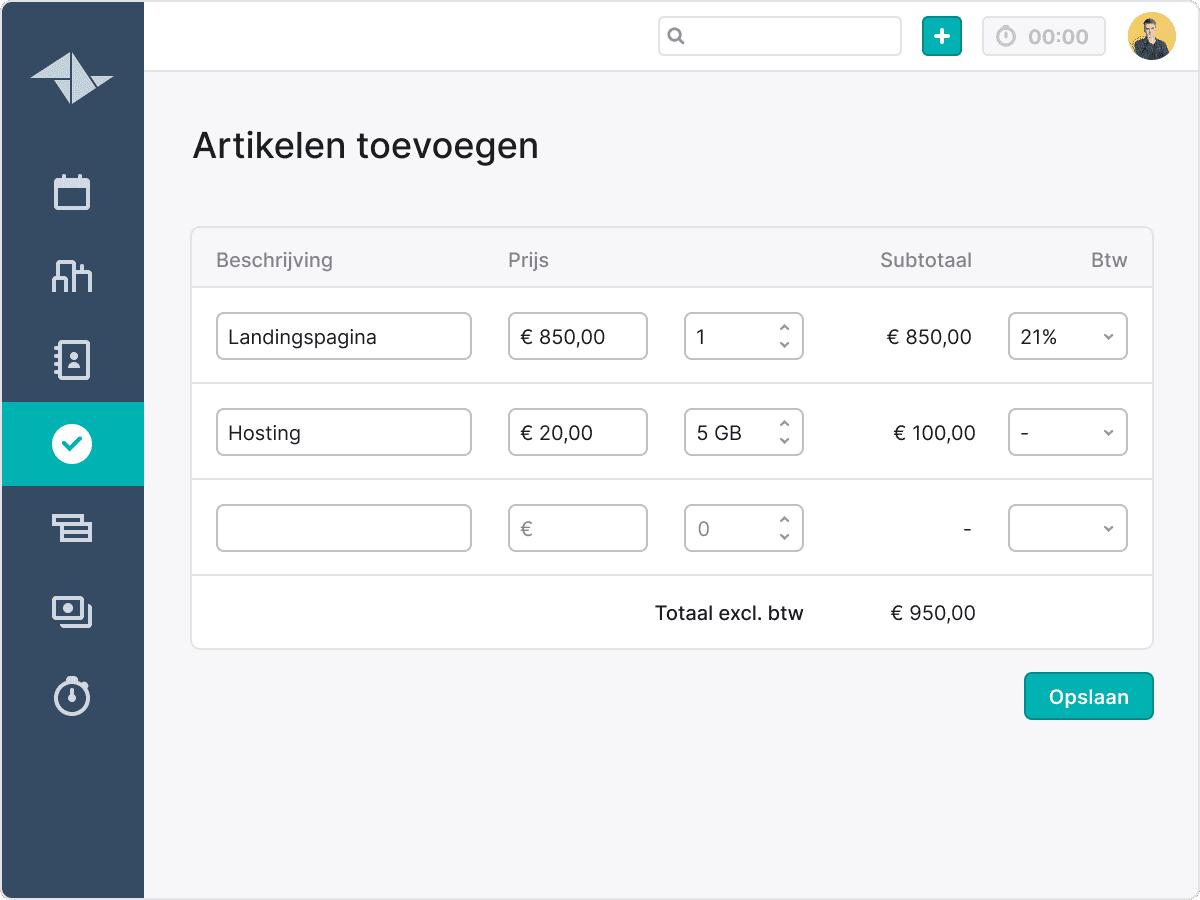BE NL offertes maken