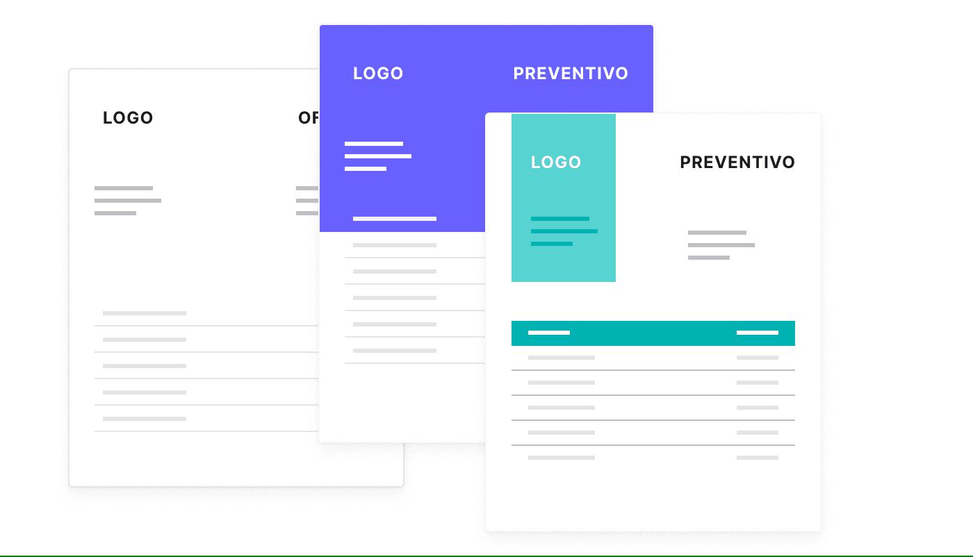 Preventivi digitali con il logo della tua azienda